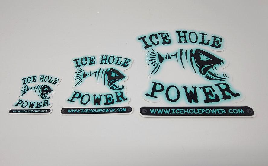5 x 5 Ice Hole Power Sticker