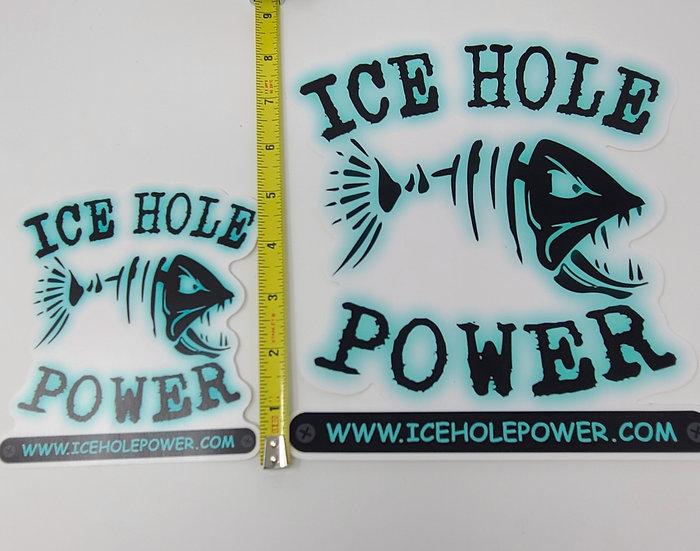 8 x 8 Ice Hole Power Sticker