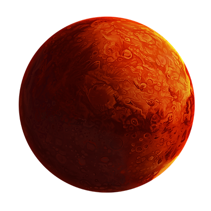 Illustration of Mars planet.