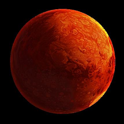 Illustration of Mars planet.