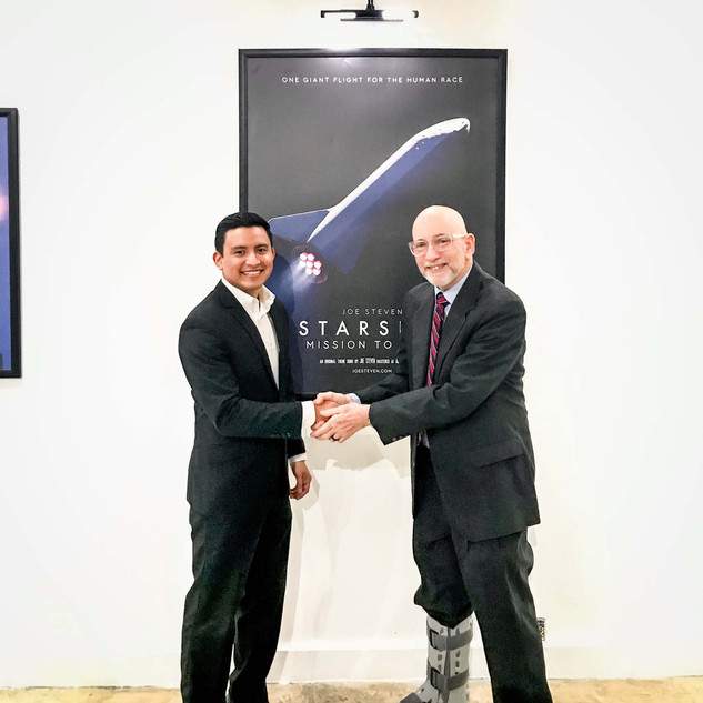 Joe Steven with John Muratore SpaceX Director of Operations, South Texas Launch Site