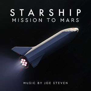 Image of Starship spaceship flying through space