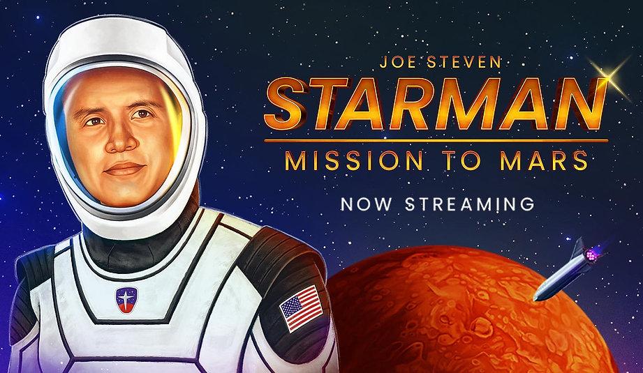 Illustration of Joe Steven wearing astronaut suit