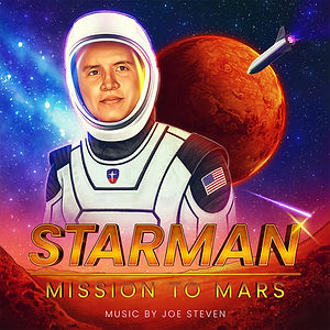 Starman Mission to Mars Album Art by Joe Steven