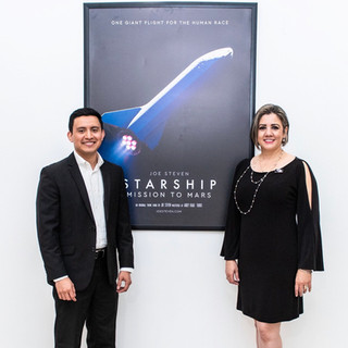 Joe Steven with Deyanira Ramirez Executive Director, Brownsville Museum of Fine Art