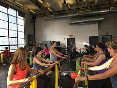 Here I'm taking continuing education classes in barre at Pilates at the Merrithew Pilates conference in New York with men and women from all over the world.