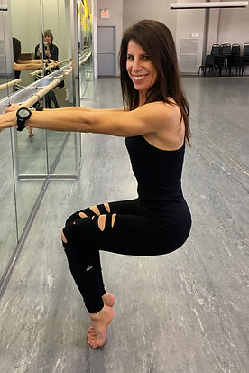 This is me teaching a barre class at Halo Studios in New Canaan, Connecticut. I combine Pilates, barre, yoga fusion, dance and gymnastics in my hour-long classes, privates and duet sessions. I offer some Pilates specials througout the year, including a starter pack of 3. Find me at breathefitness.biz.
