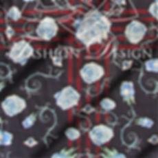 Design de Estampa sublimada em lenço para colaboradoras, mpfashiondesign