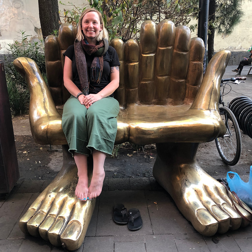 Yogaläraren Kelly i Mexiko