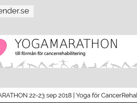 Yogamarathon 22-23 sep 2018 | Yoga för CancerRehabFonden