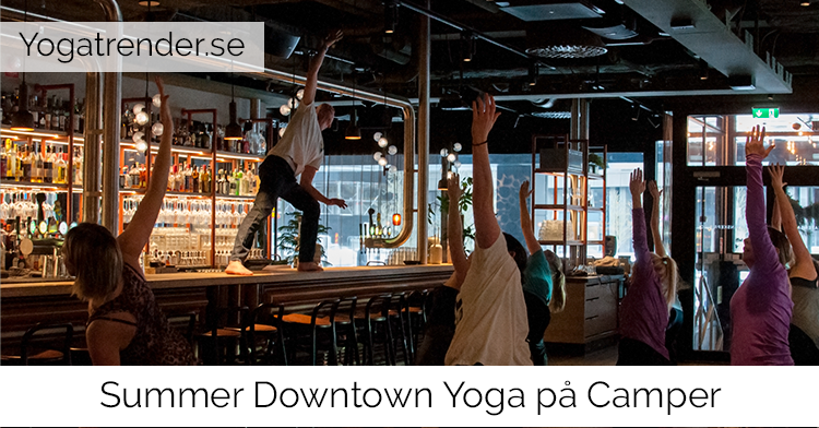 Yoga på downtown camper