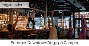Yoga på downtown camper