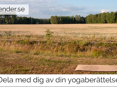 Dela med dig av din yogaberättelse