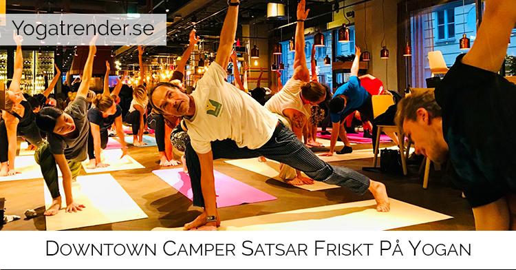Downtown Camper satsar friskt på yogan