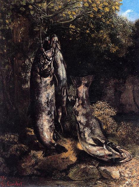 Courbet - Les trois truites de la Loue 1