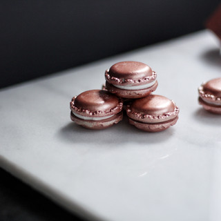 Rose Gold Concrete Macaron
