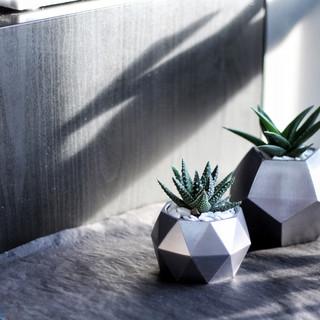 Gunmetal Grey Concrete Planter