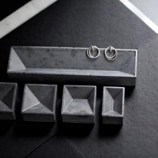 Concrete Trinket Tray - Dark Grey