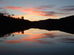 Sunset on the lake at Tullah 2