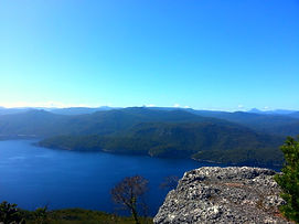 Lake Mackintosh from Mt Farrell by Donna Nelson