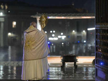 Pope's Urbi et Orbi for an end to the coronavirus pandemic