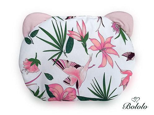 PŁASKA PODUSZKA DLA NIEMOWLĄT Paradise Garden Pink