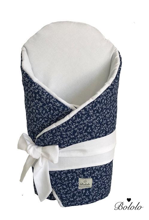 ROŻEK NIEMOWLĘCY Maple Flower Navy Blue