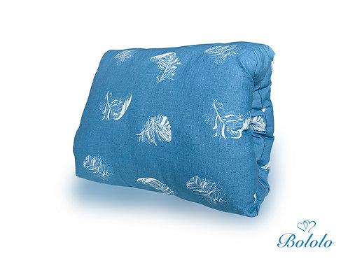 MUFKA DO KARMIENIA Blue Feathers