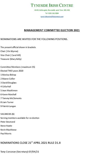AGM Nominations 2021