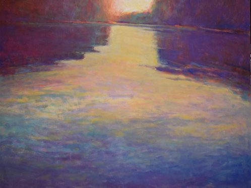 Lake Palette III, Oil on canvas, 48 x 60 inches, private collection