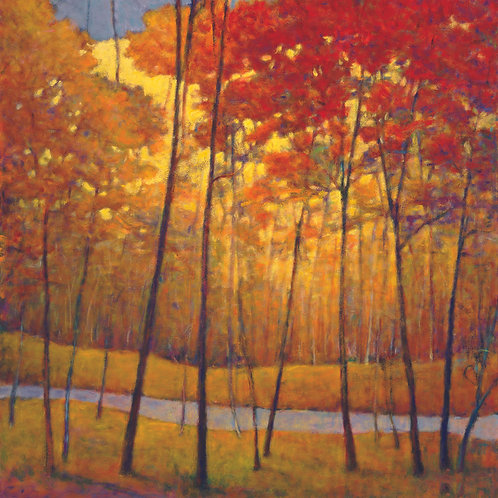 Golds and Reds at the Creek - Signed, limited edition giclee