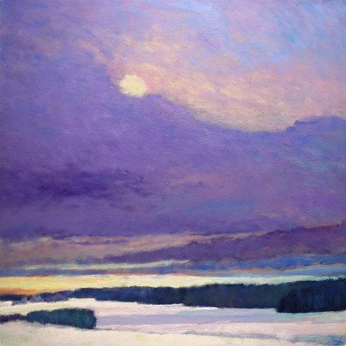 Last Sun over the Snow Fields