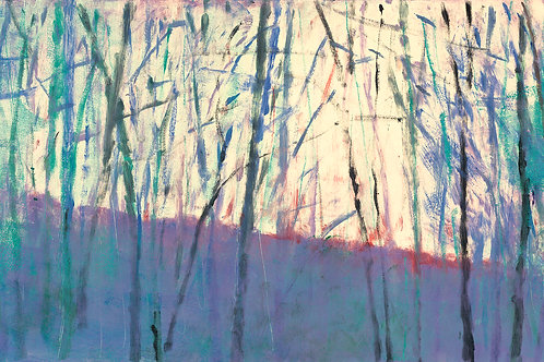 Trees and Slope I - Signed, limited edition giclee