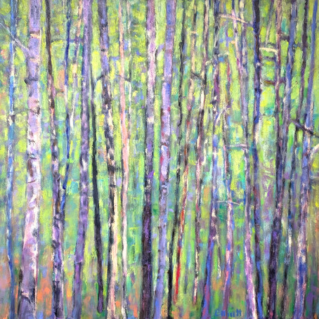 New work: Forest Patterns, oil on canvas, 40 x 40 inches