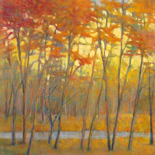 Yellows at the Creek (right) - Signed, limited edition giclee