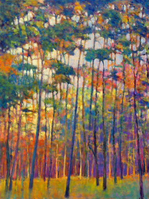 Glittering Forest, oil on canvas, 48 x 36 inches, private collection