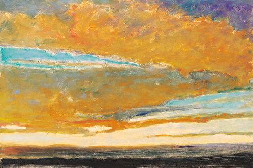 Clouds in Blue and Gold I - Signed, limited edition giclee