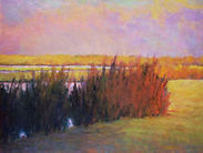 Ken Elliott At the Marsh oil on canvas 3