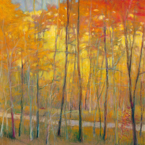 Yellows at the Creek (left) - Signed, limited edition giclee