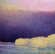 Ken Elliott Lake Haze - Yellow oil on canvas 36 x 36 copy.jpg