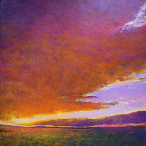 Red and Orange Merging - Signed, limited edition giclee