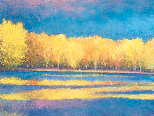 Yellow Reflections - Signed, limited edition giclee