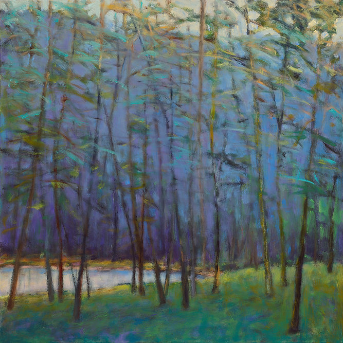 Ken Elliott Lake Calm oil on canvas 40 x