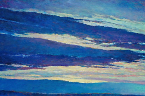 Blue Skyscape, oil on canvas, 36 x 60 inches