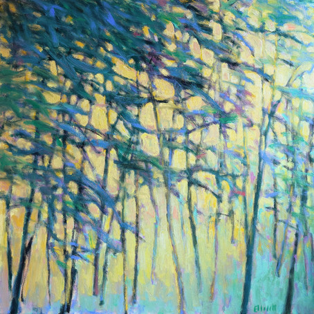 New work: Air through the Forest, oil on canvas, 40 x 40 inches