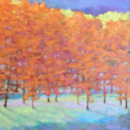 Glowing Tree Line - Signed, limited edition giclee