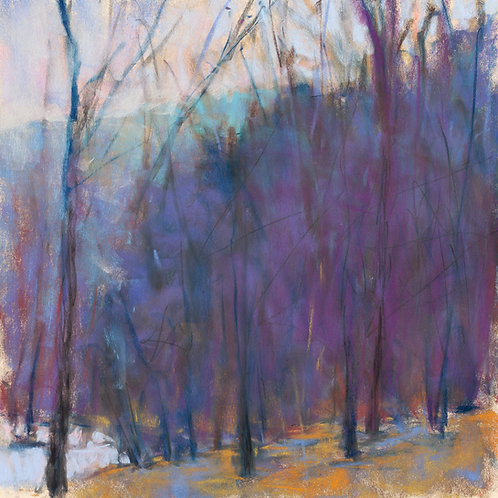 Wood at the Lake I (pastel) - Signed, limited edition giclee