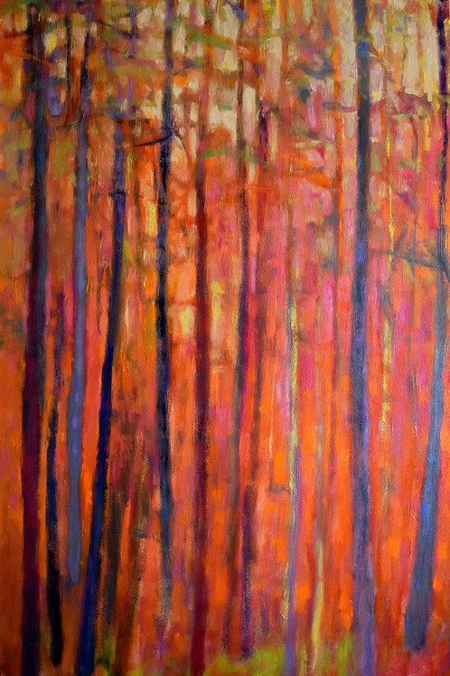 Light Dialogue - Red, oil on canvas, 48x 30 inches