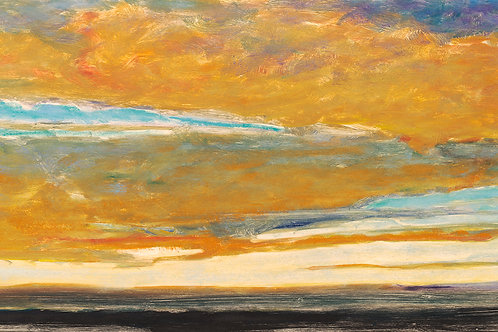 Clouds in Blue and Gold II - Signed, limited edition giclee