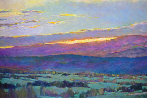 Sun Behind the Foothills - Signed, limited edition giclee
